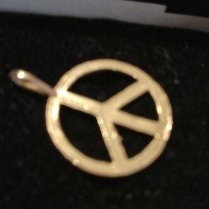 14 k gold PEACE PENDANTS